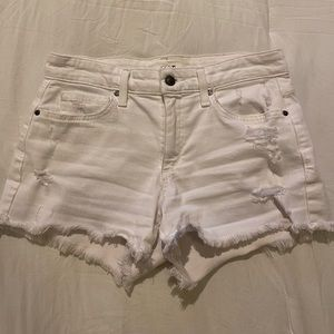 White Distressed Joe's Jeans Shorts